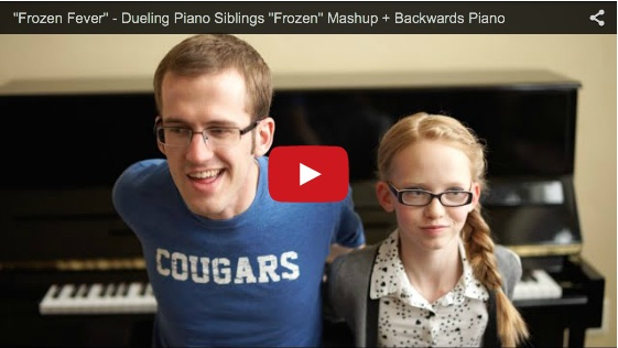 "Dueling ""Frozen Fever"" by siblings on a Yamaha piano"