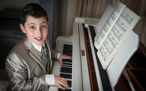 Youngest person in the world to get music degree plays a Yamaha piano
