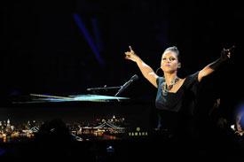 Alicia Keys NY Skyline Yamaha Piano raises $150,000 at charity auction