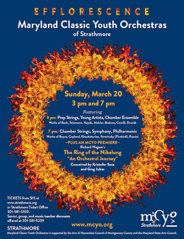 See the Maryland Classic Youth Orchestras of Strathmore, Sunday March 20th