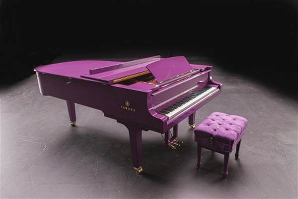 Prince's new purple Yamaha grand piano was ready to tour