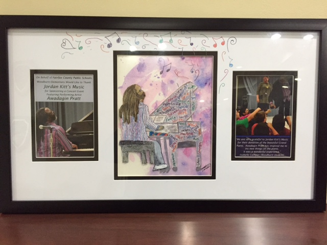 Jordan Kitt's Music receives gift of original art after Awadajin Pratt visit