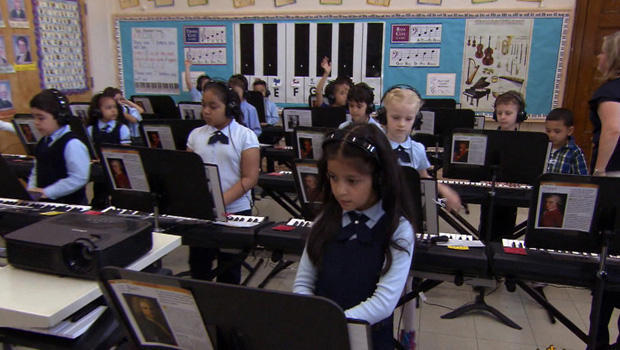 Piano music raising the bar at elementary school