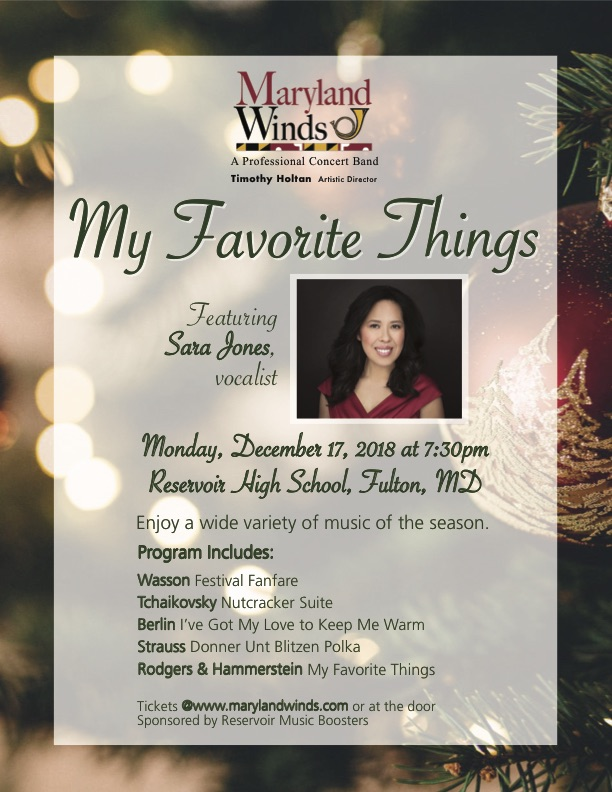 Maryland Winds Concert:  My Favorite Things!