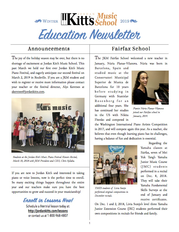JKM Winter Newsletter