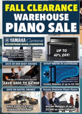 Fall Piano Clearance!